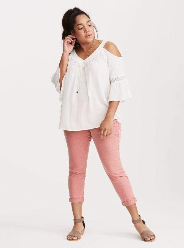 Мода на брюки для полных 2018-2019 фото