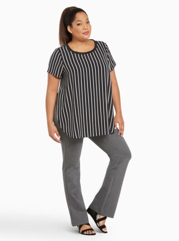 модные брюки для полных 2018-2019