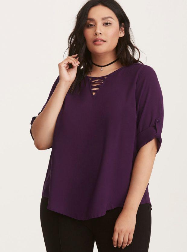 мода для полных: блузы и жакеты