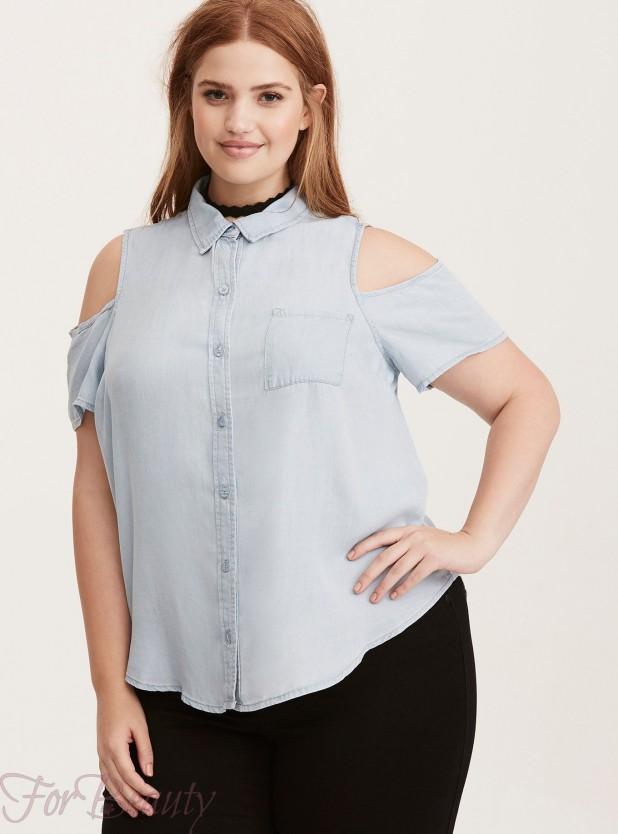 Модные блузы для полных 2017