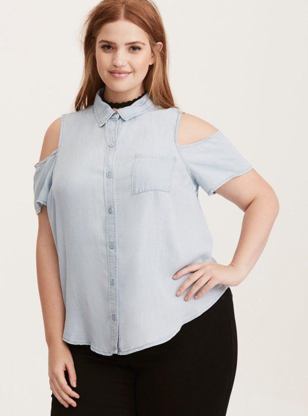 мода для полных: блузы