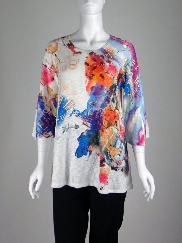 Модные оптические иллюзорныепринтыв одежде фото