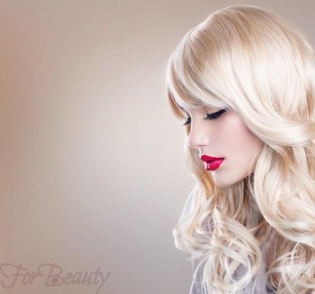 Модная асимметричная челка 2018 на длинные волосы