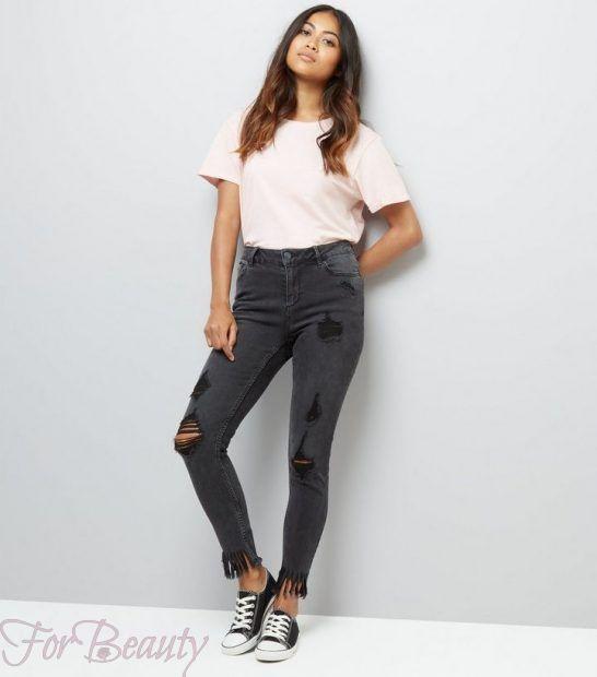 Модные женские джинсы с бахромой 2018 фото