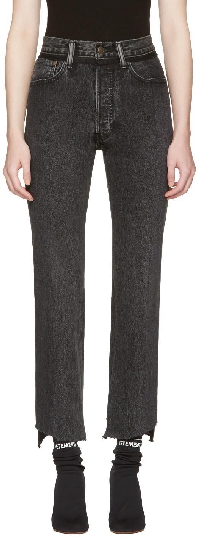 стильные женские джинсы: черные классические
