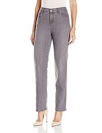 стильные женские джинсы: серые классические