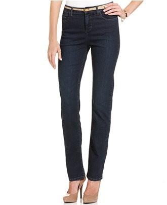 стильные женские джинсы: классические темно-синие