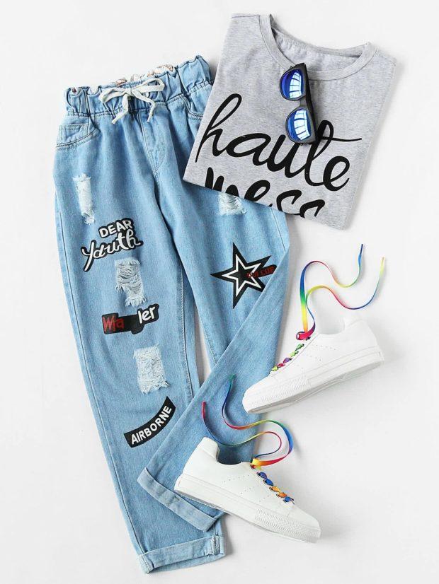 как носить модные женские джинсы в 2019-2020 году