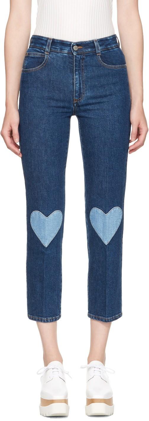 Женские джинсы с контрастными вставками модные фото
