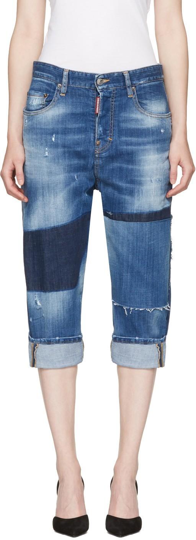 Женские джинсы с контрастными вставками