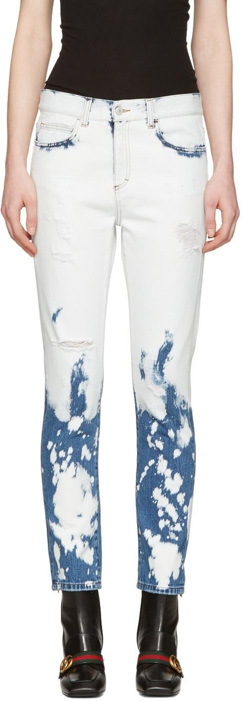 Женские джинсы с вставками модные фото