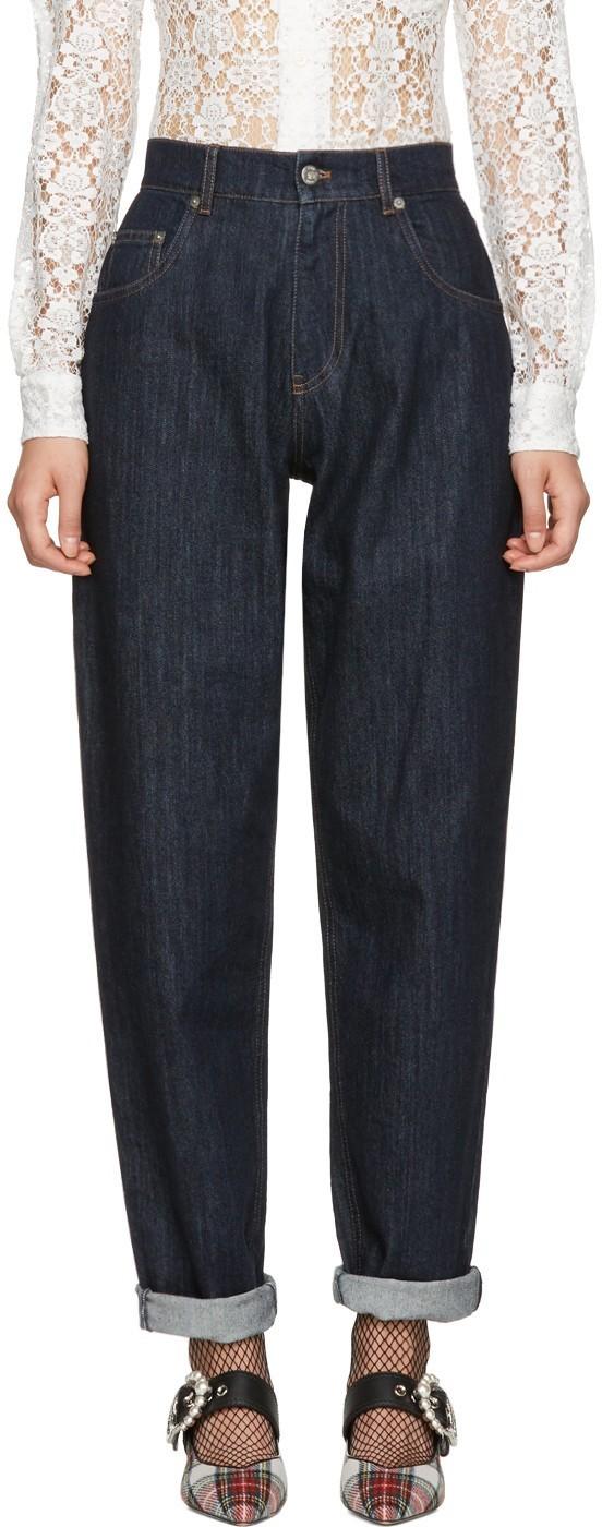 Зимний образ с джинсами