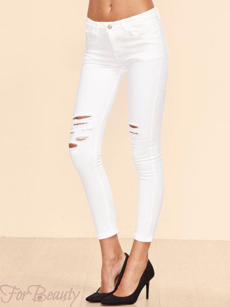 расцветка ипринтымодных женских джинсов 2018 модные фото