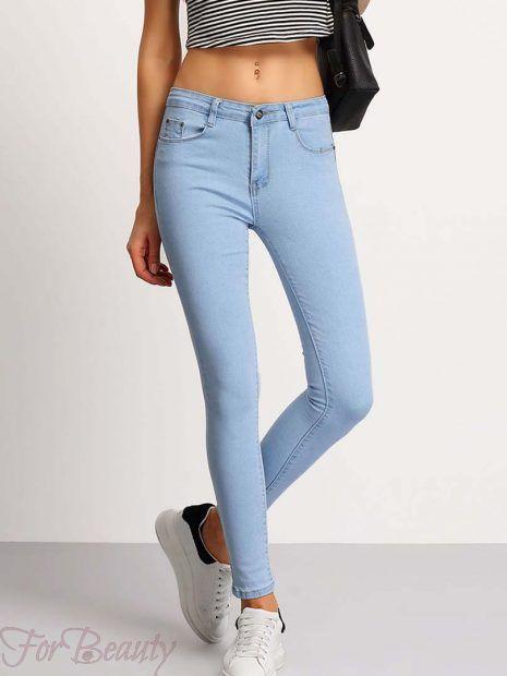 расцветка модных женских джинсов 2018 модные фото