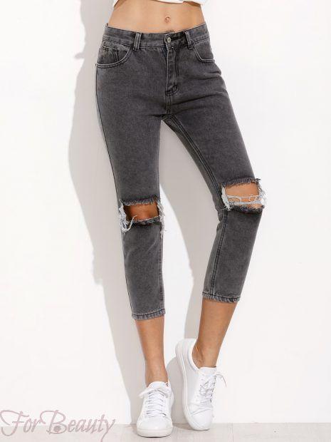 принтымодных женских джинсов 2018 модные фото