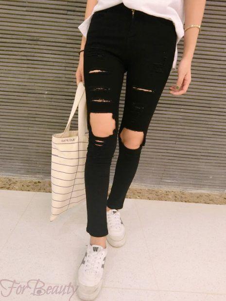 модныепринтымодных женских джинсов 2018 модные фото