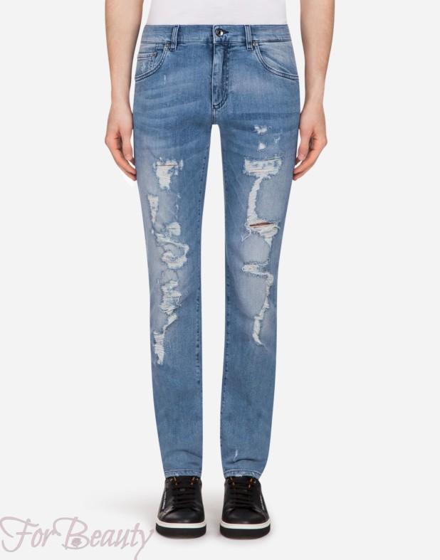 Мужские рваные джинсы 2018