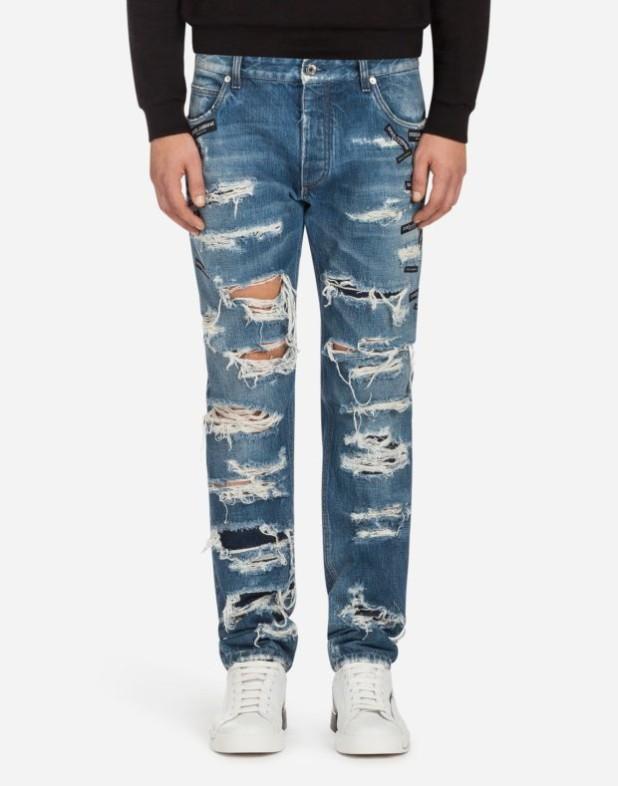 Мужские рваные джинсы 2018-2019