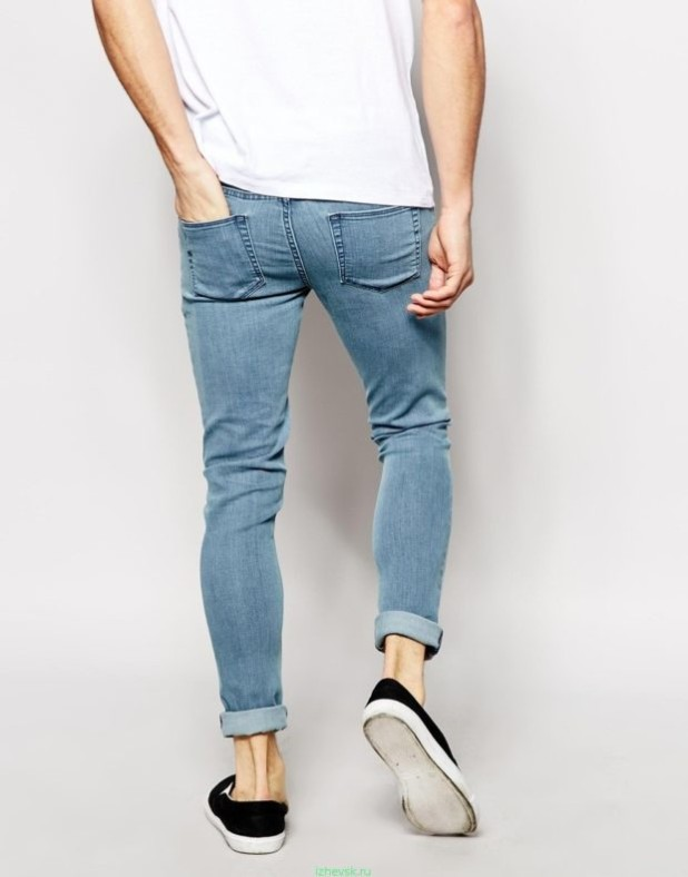 Мужские узкие штаны с подворотом 2018-2019