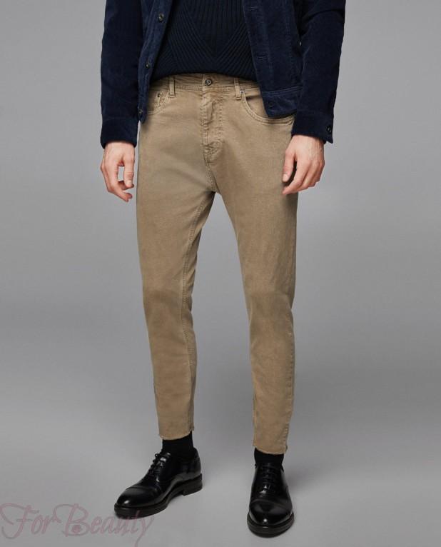 Мужские конические джинсы 2018