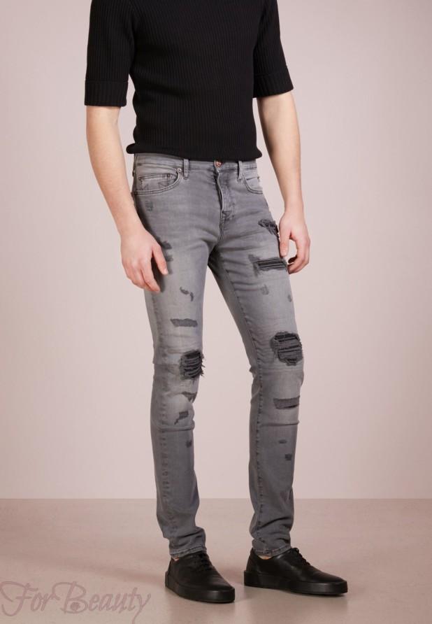 Мужские джинсы с заплатками 2018