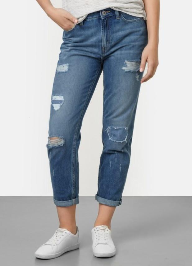 Мужские джинсы с заплатками