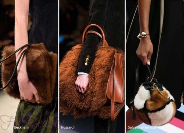 Модные сумки из меха женские