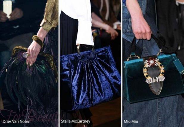 Модные сумки: брендовые из бархата