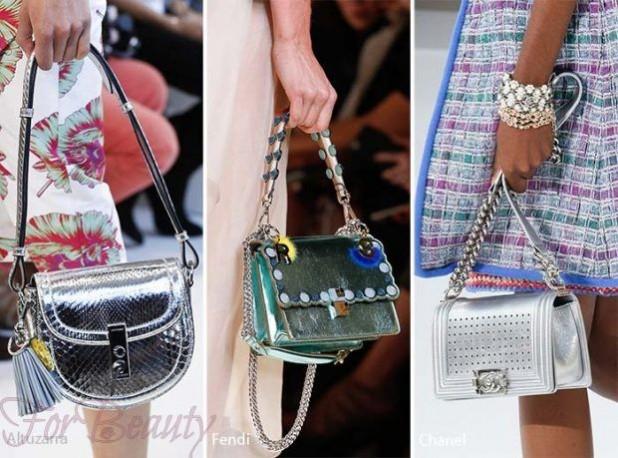 Модные сумки: Кожа оттенка металлик