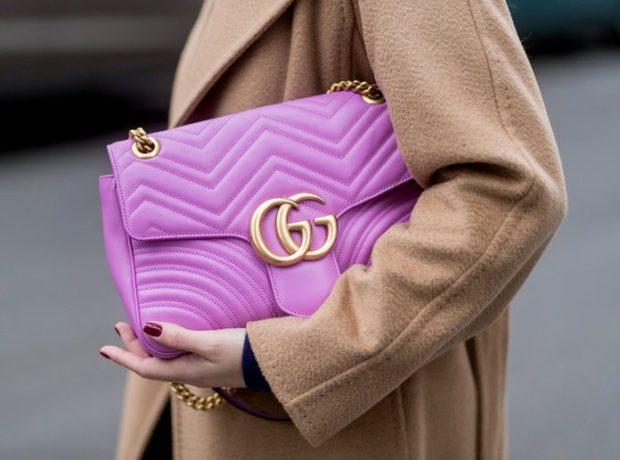 фиолетовая сумка DG