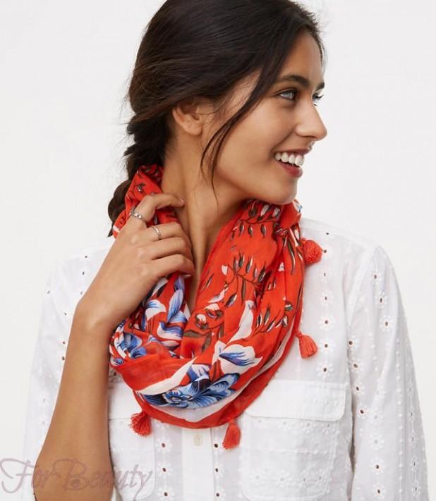 Модные шарфы 2018 женские снуд