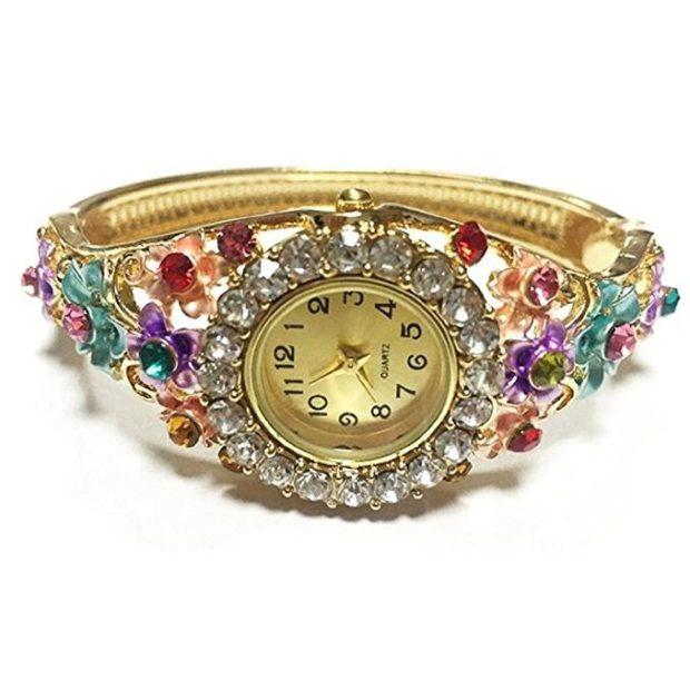 женские стильные часы ремешок в виде камней