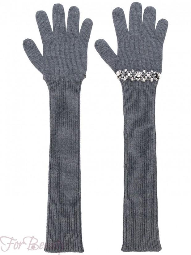Модные длинные перчатки 2018 женские
