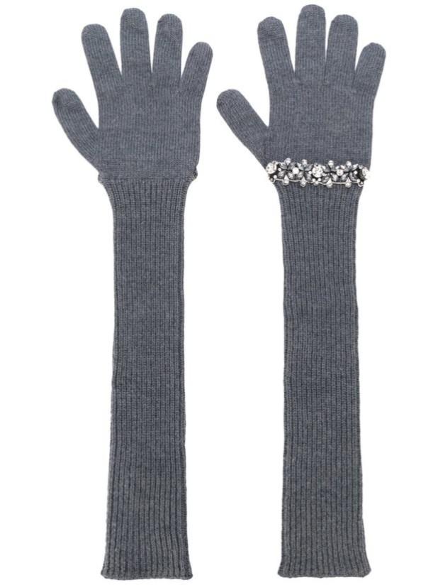 аксессуары: Модные длинные перчатки женские