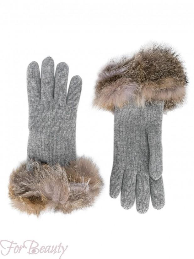 Модные перчатки 2018 женские с мехом
