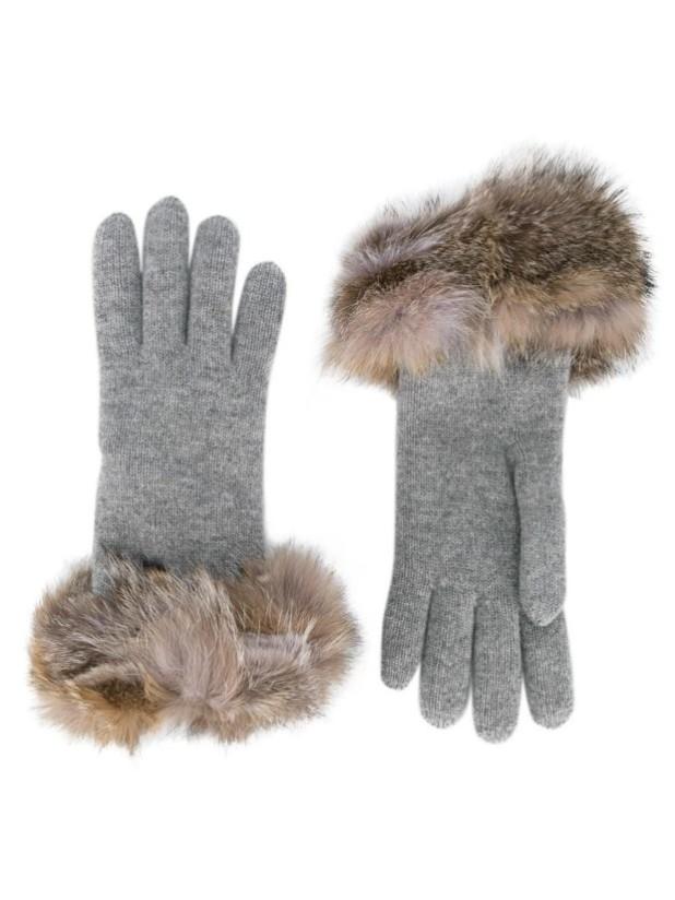 аксессуары: Модные перчатки женские с мехом