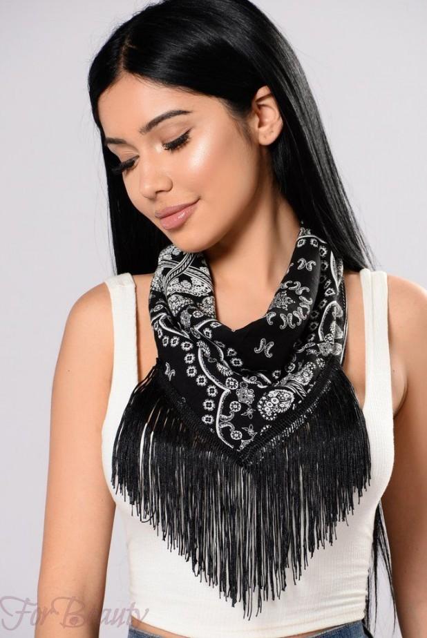 стильный шарф бандана