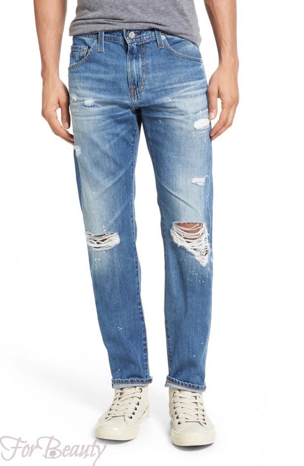 Мужские рваные джинсы 2018 фото