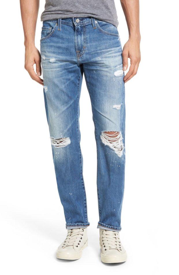 Мужские рваные джинсы 2018-2019 фото