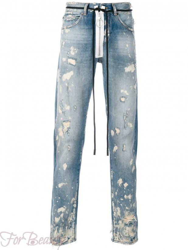 Модные мужские джинсы в стилегранж2018 фото