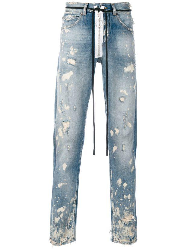 Модные мужские джинсы в стилегранж фото