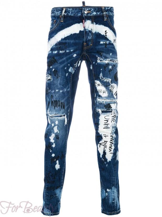 красивые мужские джинсы в стилегранж2018