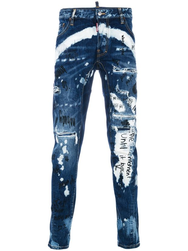 красивые мужские джинсы в стилегранж
