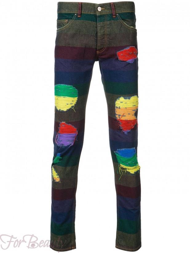 Мужские джинсы с заплатками 2018 фото