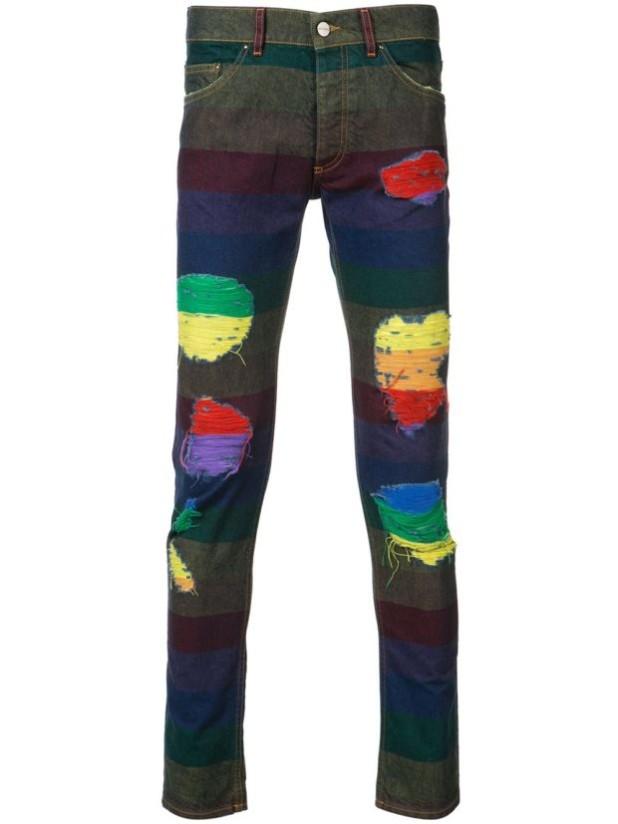 Мужские джинсы с заплатками фото