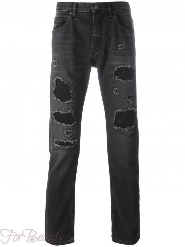 модные мужские джинсы с заплатками 2018