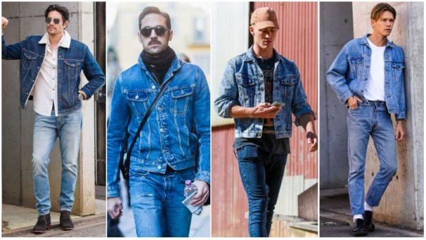 Мужские костюмы в джинсовом стиле фото