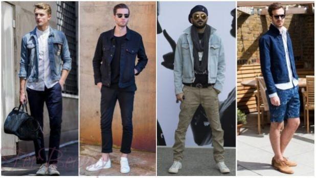 модные мужские костюмы в джинсовом стиле 2018