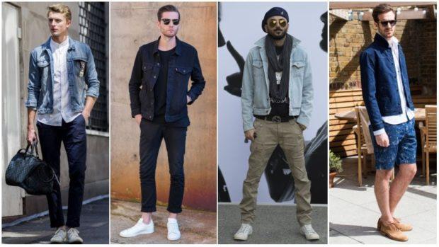 модные мужские костюмы в джинсовом стиле