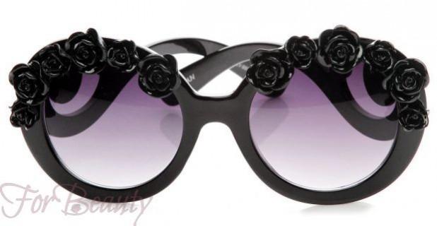 Модные очки с узорчатой оправой 2017 фото женские